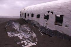 平面击毁,冰岛 库存图片