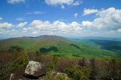 从平顶岩石的春天 图库摄影
