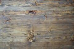 水平黑暗的木纹理的背景 库存图片