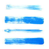 平直的油漆刷子冲程 库存照片