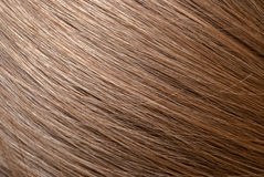 平直的浅褐色的头发宏指令foto 免版税库存图片