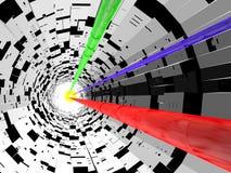 平直的电子隧道 库存图片