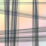 平直的阴影抽了在轻的彩虹背景的线 免版税库存照片