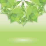 水平绿色三角的水晶 库存照片