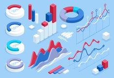 平3d等量infographic您的企业介绍的 大套与数据象,世界地图图的infographics 库存例证
