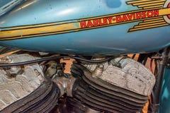 1939年与摩托跨斗2的哈利戴维森模型U 免版税图库摄影