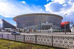 2018年世界冠军橄榄球足球的新的体育场 库存照片