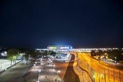 2018年世界杯足球赛的体育场,顿河畔罗斯托夫,俄罗斯 图库摄影