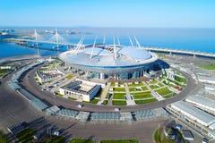 2018年世界杯足球赛,俄罗斯,圣彼得堡,圣彼得堡体育场 库存图片