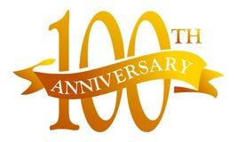 100年丝带周年 库存图片