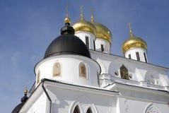 1507 1533年假定建立了大教堂年 克里姆林宫在Dmitrov,古镇在莫斯科地区 图库摄影