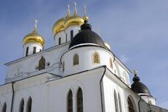 1507 1533年假定建立了大教堂年 克里姆林宫在Dmitrov,古镇在莫斯科地区 库存图片