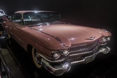 1959年卡迪拉克小轿车Dv Ville,经典大型高级轿车 库存图片