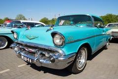 1958年卡迪拉克Sedan De Ville经典之作汽车 免版税库存图片