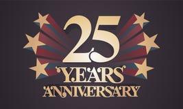 25年周年传染媒介象,商标 库存例证