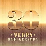 30年周年传染媒介象,标志 免版税图库摄影
