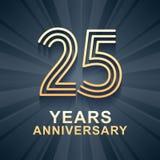 25年周年庆祝传染媒介象,商标 皇族释放例证