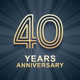 40年周年庆祝传染媒介象,商标 皇族释放例证