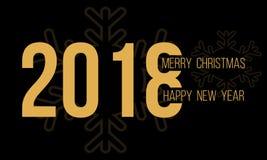 2018年圣诞快乐和新年快乐 库存照片