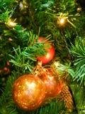2010年圣诞节在照片被采取的结构树之外的12月装饰 图库摄影