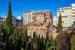 10 03 2018年塞萨罗尼基,希腊-贴水Th的Panteleimon教会 库存图片