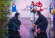 2018年安东Maskdance节日 库存图片