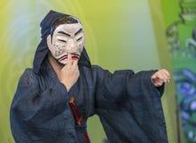 2018年安东Maskdance节日 免版税库存照片