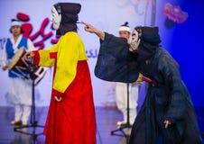 2018年安东Maskdance节日 库存照片