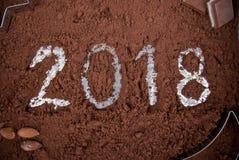 2018年巧克力概念 图库摄影
