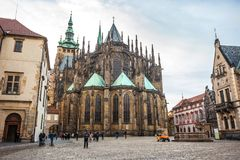 24 01 2018年布拉格,捷克Rebublic -圣徒Vitu大教堂  图库摄影
