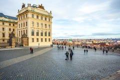 24 01 2018年布拉格,捷克Rebuplic -城市的看法从ob的 免版税库存图片