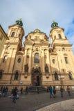 25 01 2018年布拉格,捷克Respublic -老的圣尼古拉什教会 库存照片