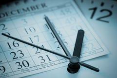 年底日程表 库存图片
