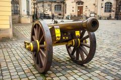 22 01 2018年德累斯顿,德国- 17世纪的古老大炮 库存图片