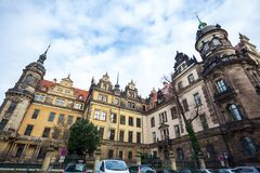 22 01 2018年德累斯顿;圣洁Trin的德国-德累斯顿大教堂 免版税库存照片
