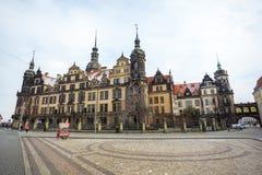 22 01 2018年德累斯顿;圣洁Trin的德国-德累斯顿大教堂 库存照片
