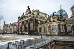22 01 2018年德累斯顿;德国- Dres建筑学和风景  免版税库存照片