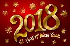 2018年您的季节性飞行物和贺卡或者圣诞节主题的邀请的新年快乐背景 皇族释放例证
