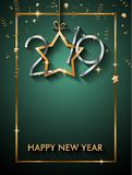 2019年您的季节性飞行物和Gree的新年快乐背景 库存图片