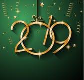 2019年您的季节性飞行物和Gree的新年快乐背景 库存照片