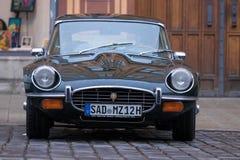 1972年捷豹汽车E型的老朋友汽车 图库摄影