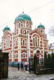 1360年教会设立了乔治的st是年的修道院vladychny serpukhov 库存图片