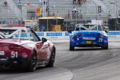 2017年本田Indycar系列种族在多伦多 免版税库存图片