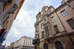 22 01 2018年柏林,德国-古老历史处所和stre 免版税库存照片