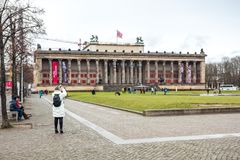 25 01 2018年柏林,德国- Altes博物馆的大厦 库存照片