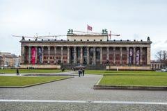 25 01 2018年柏林,德国- Altes博物馆的大厦 图库摄影