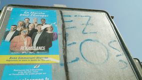 2019年欧洲议会竞选候选人海报En马尔什 股票视频