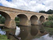1825年澳洲桥梁完成了证明有罪人工地点里士满塔斯马尼亚岛 免版税图库摄影