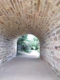 1825年澳洲桥梁完成了证明有罪人工地点里士满塔斯马尼亚岛 库存图片