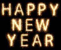2018年烟花闪烁发光物明亮的发光的新年 免版税库存图片